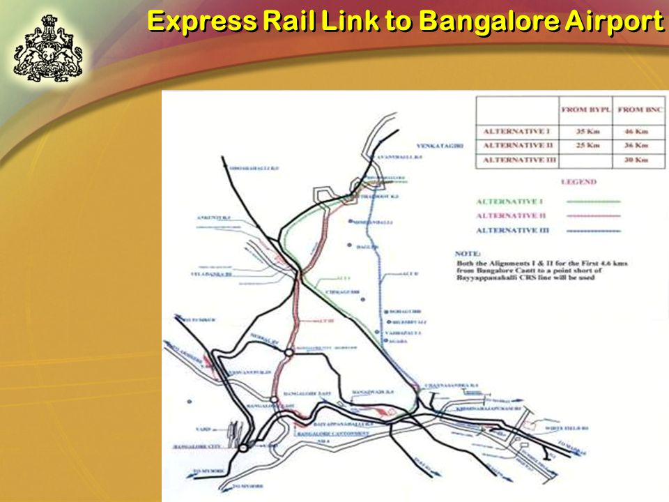 Express Rail Link to Bangalore Airport