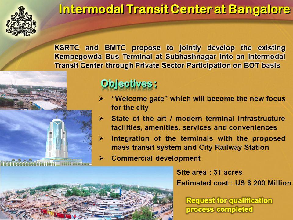 Intermodal Transit Center at Bangalore