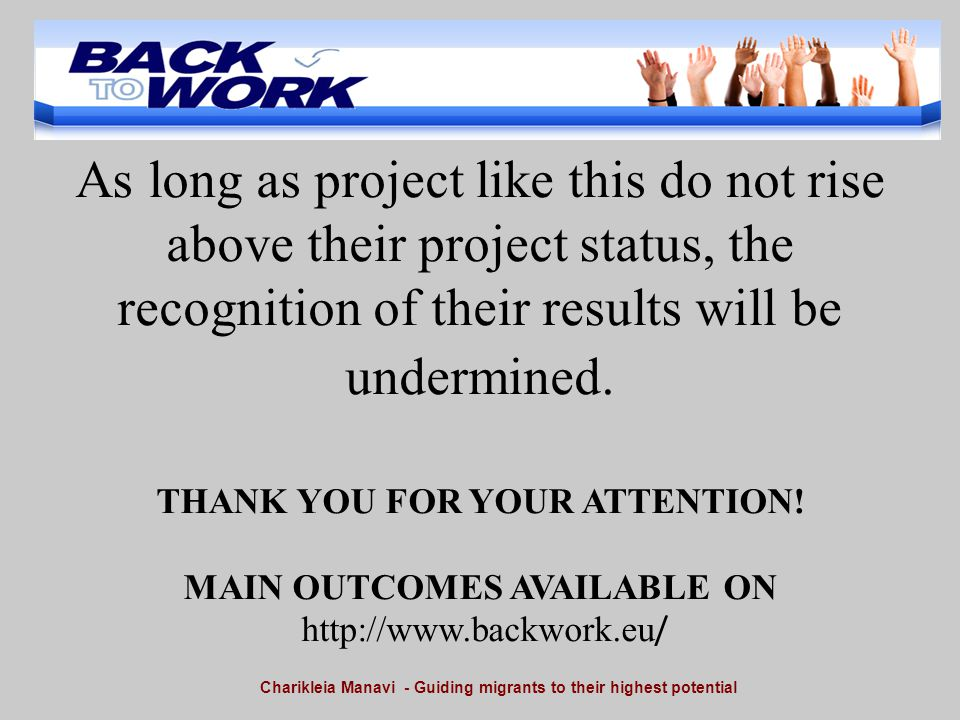 As long as project like this do not rise above their project status, the recognition of their results will be undermined.