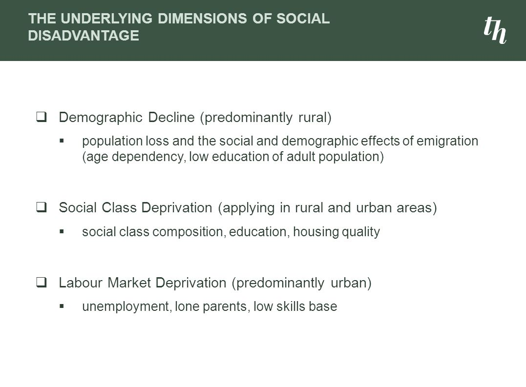 The Underlying Dimensions of Social Disadvantage