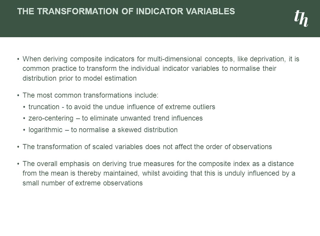 The Transformation of Indicator Variables
