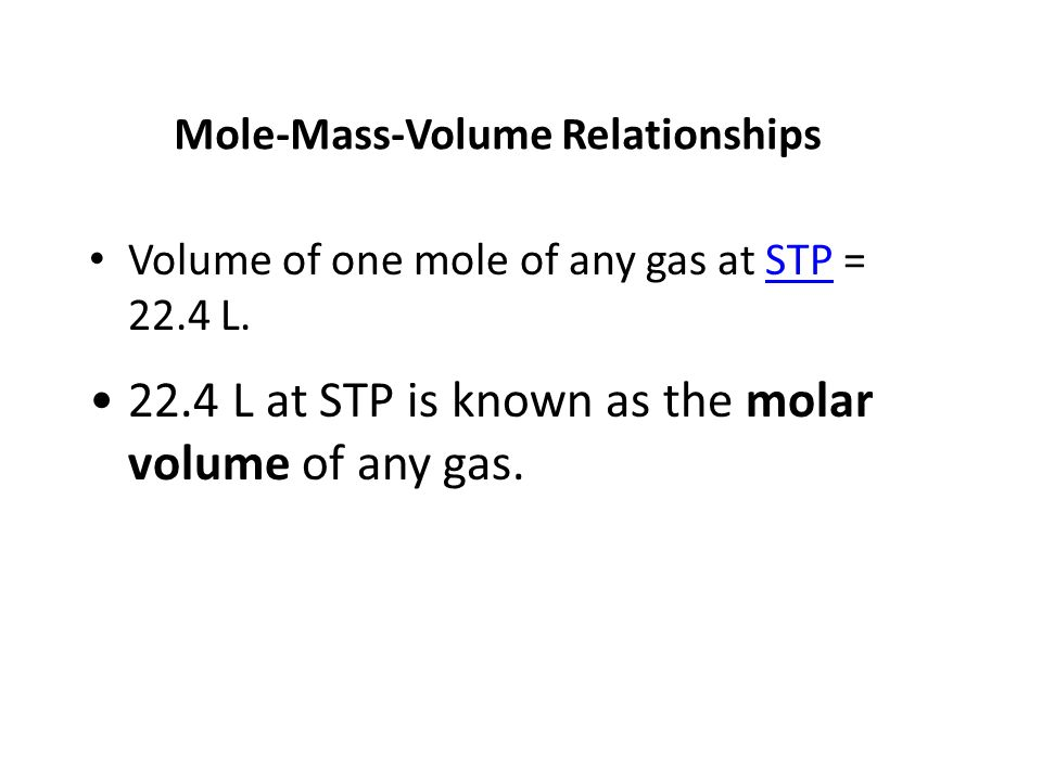 22.4 L at STP is known as the molar volume of any gas.