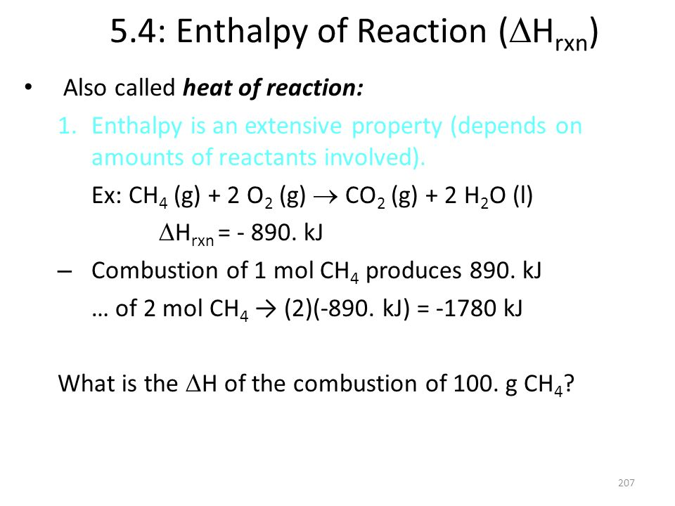 5.4: Enthalpy of Reaction (Hrxn)