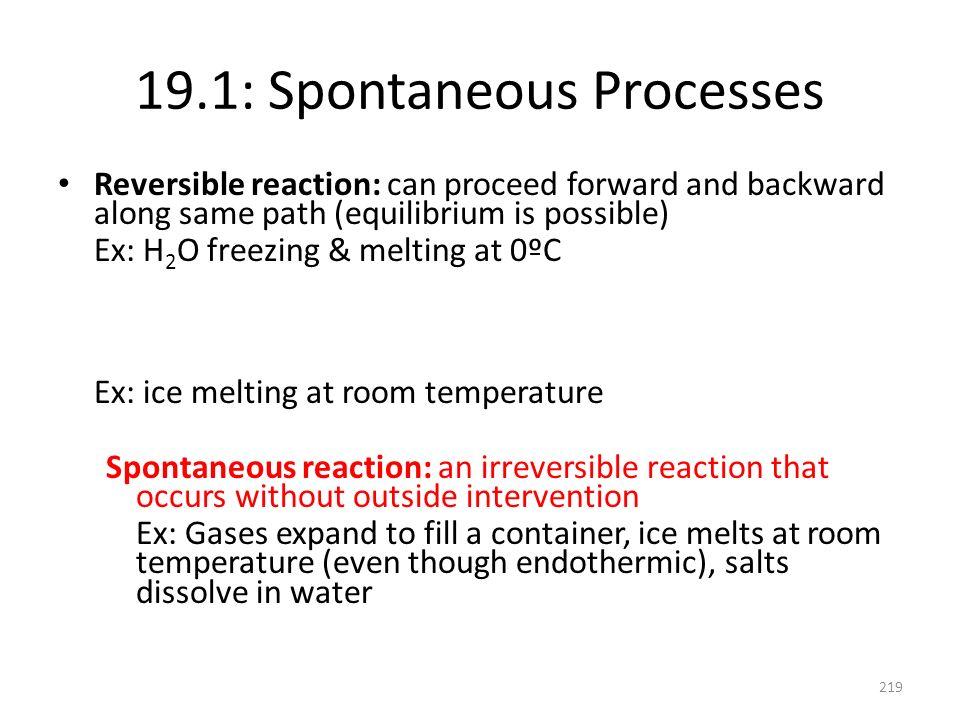 19.1: Spontaneous Processes
