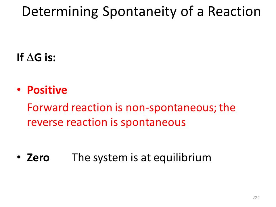 Determining Spontaneity of a Reaction