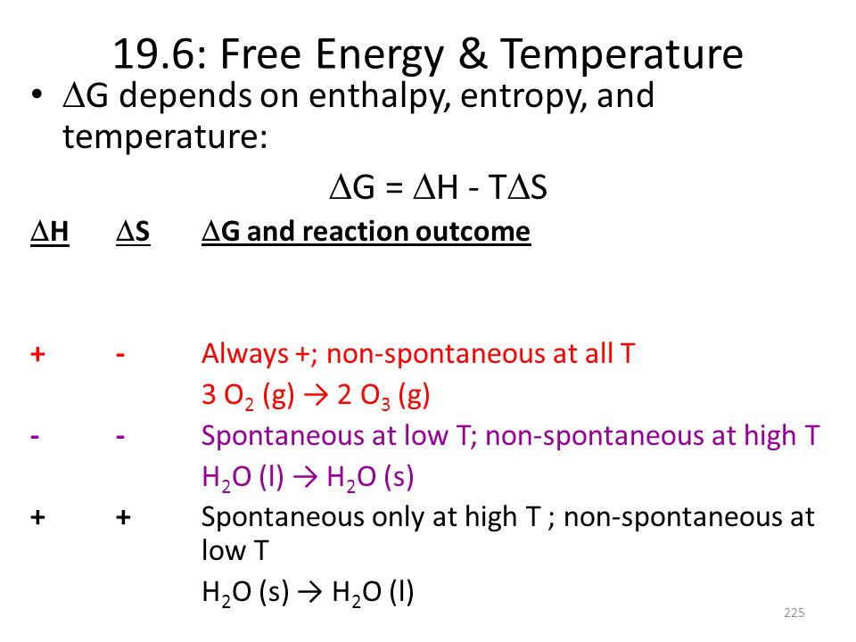 19.6: Free Energy & Temperature