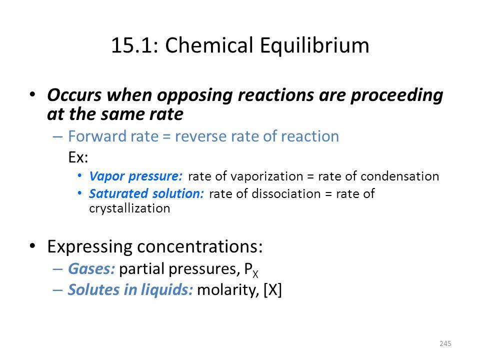 15.1: Chemical Equilibrium
