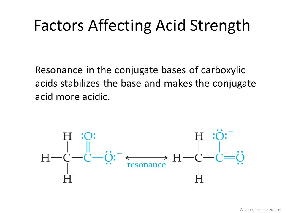 Factors Affecting Acid Strength