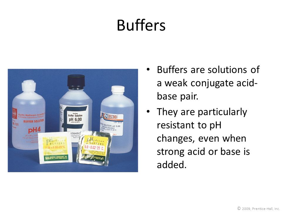 Buffers Buffers are solutions of a weak conjugate acid-base pair.