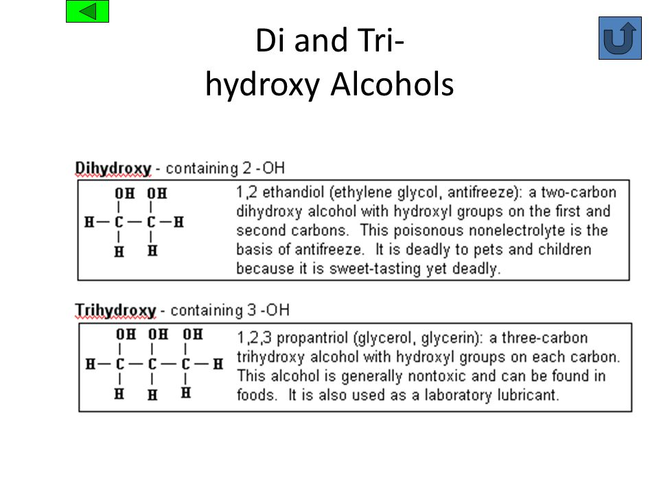 Di and Tri- hydroxy Alcohols