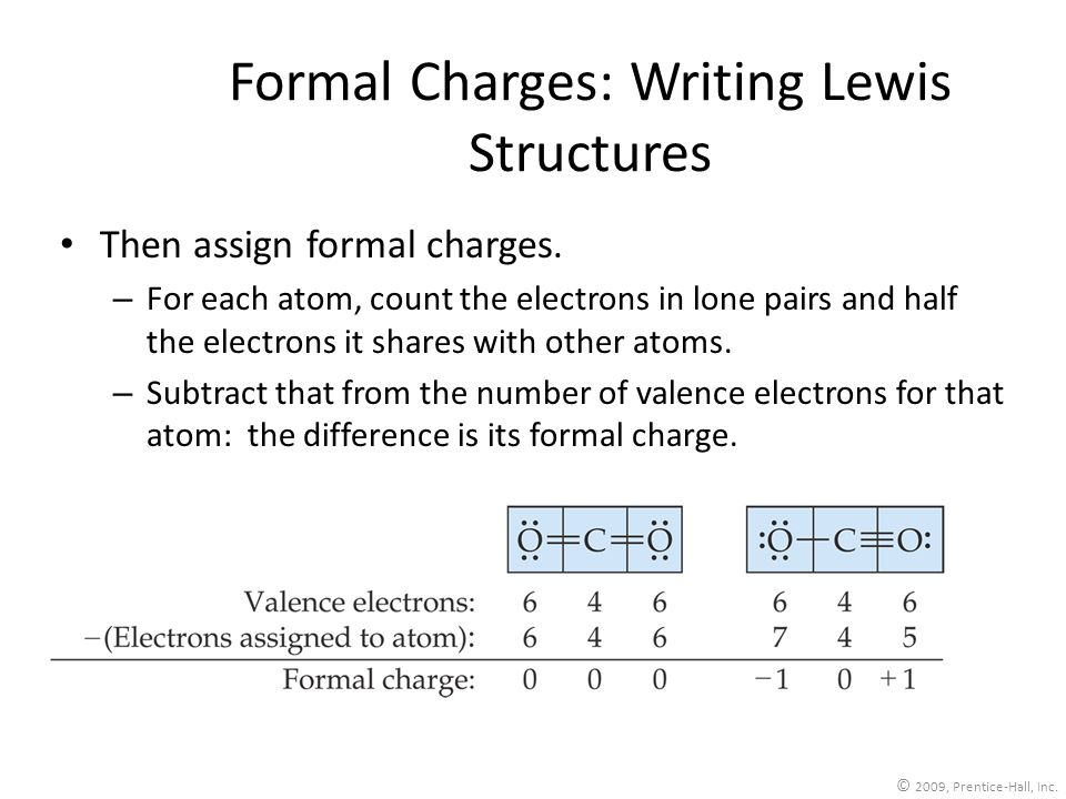 Formal Charges: Writing Lewis Structures