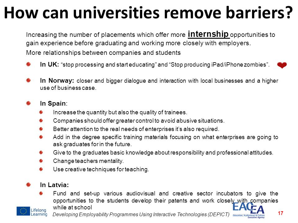 How can universities remove barriers