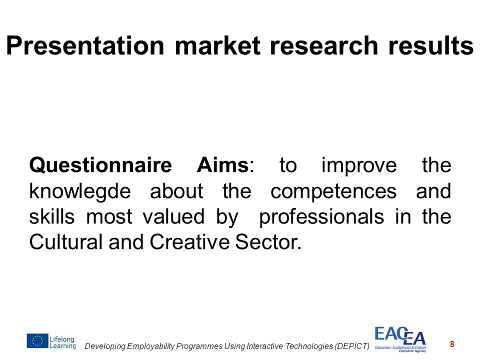Presentation market research results