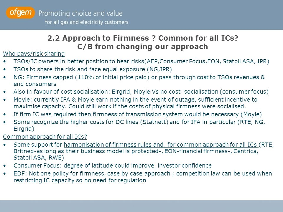 2. 2 Approach to Firmness. Common for all ICs