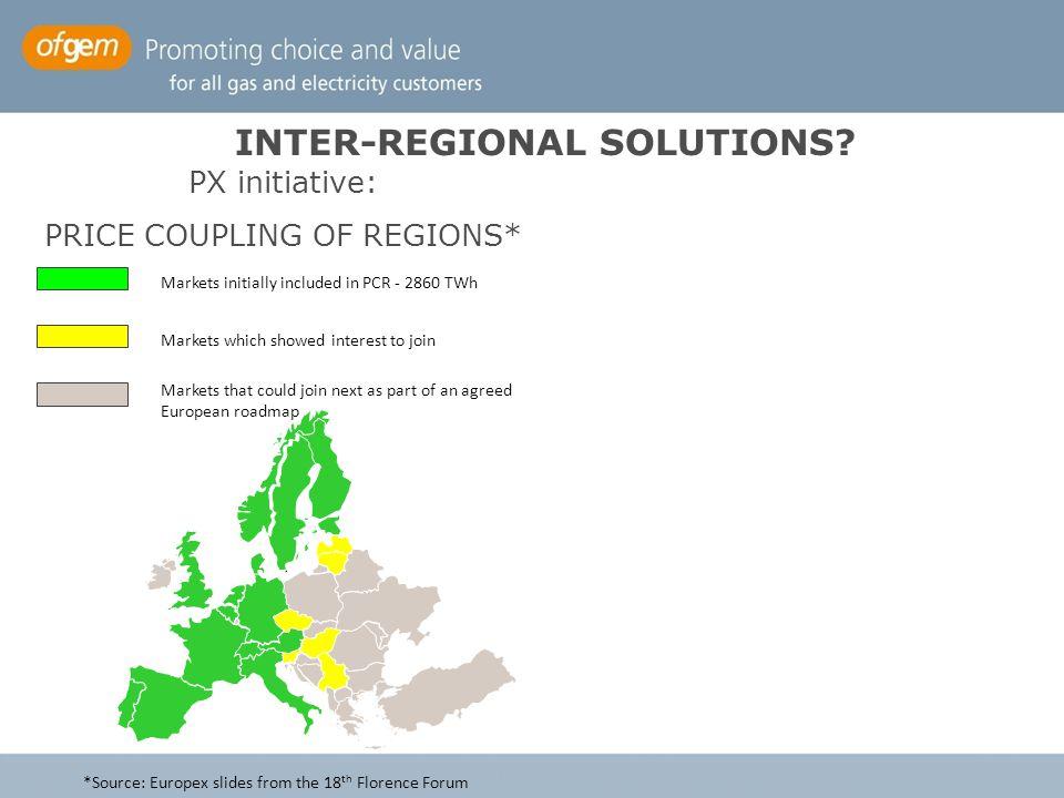 INTER-REGIONAL SOLUTIONS