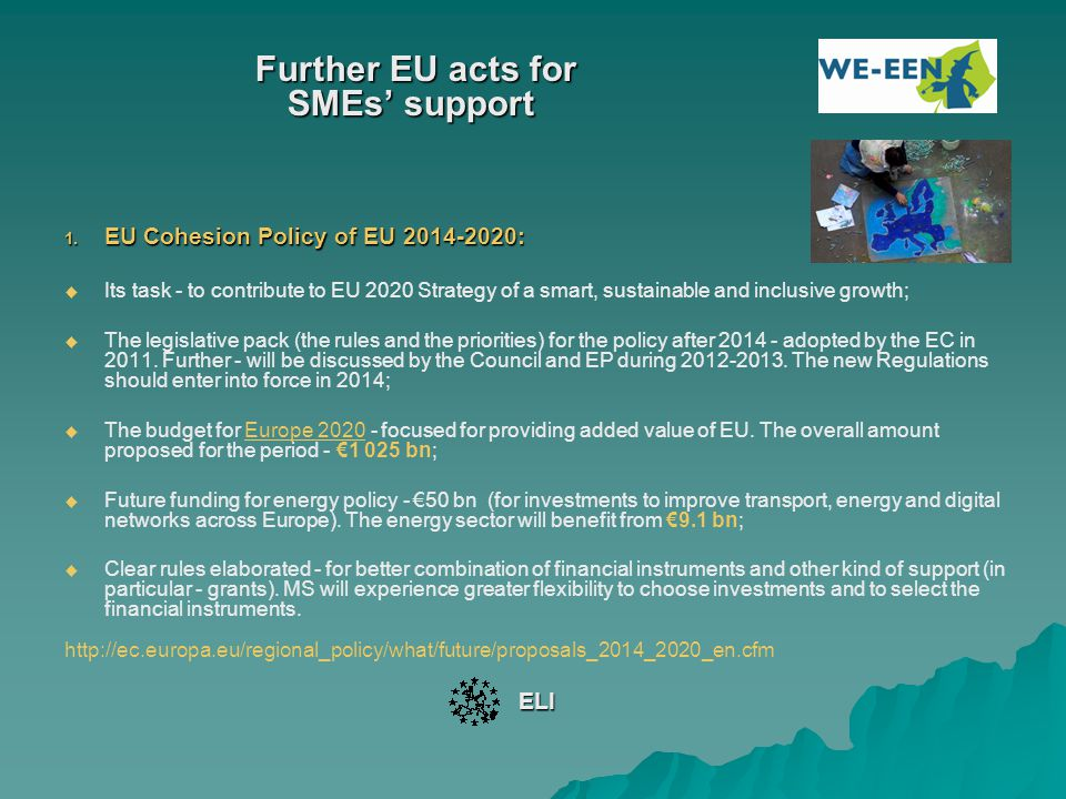 Further EU acts for SMEs' support