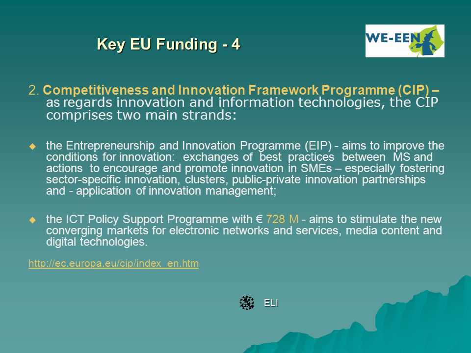 Key EU Funding - 4