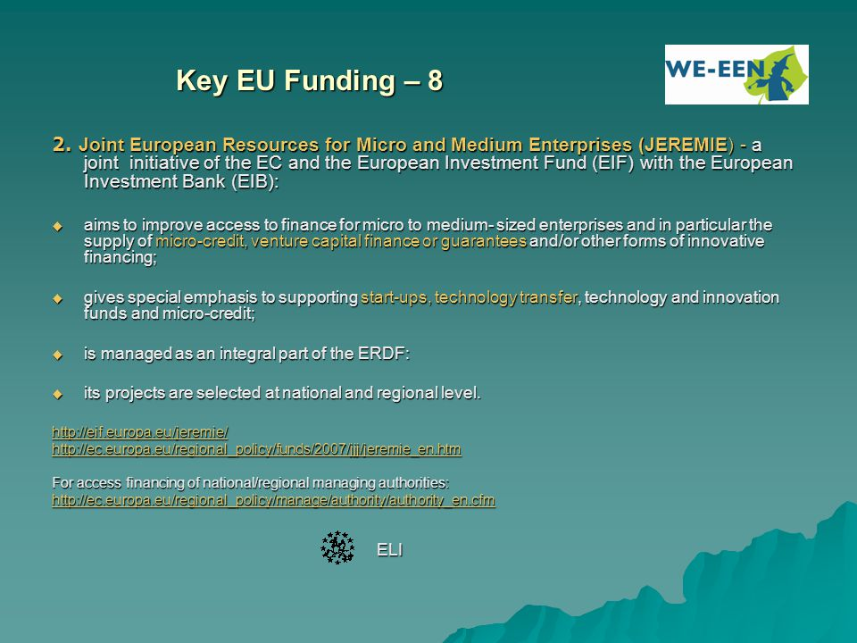 Key EU Funding – 8