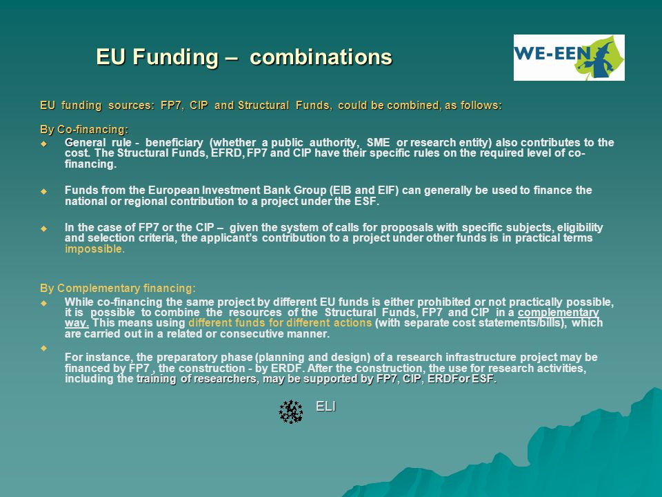 EU Funding – combinations