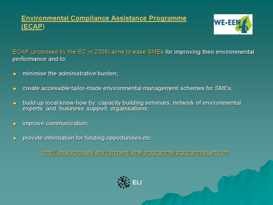 Environmental Compliance Assistance Programme (ECAP)