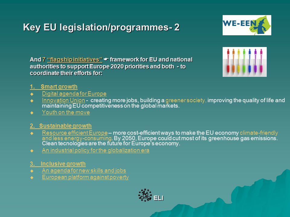 Key EU legislation/programmes- 2