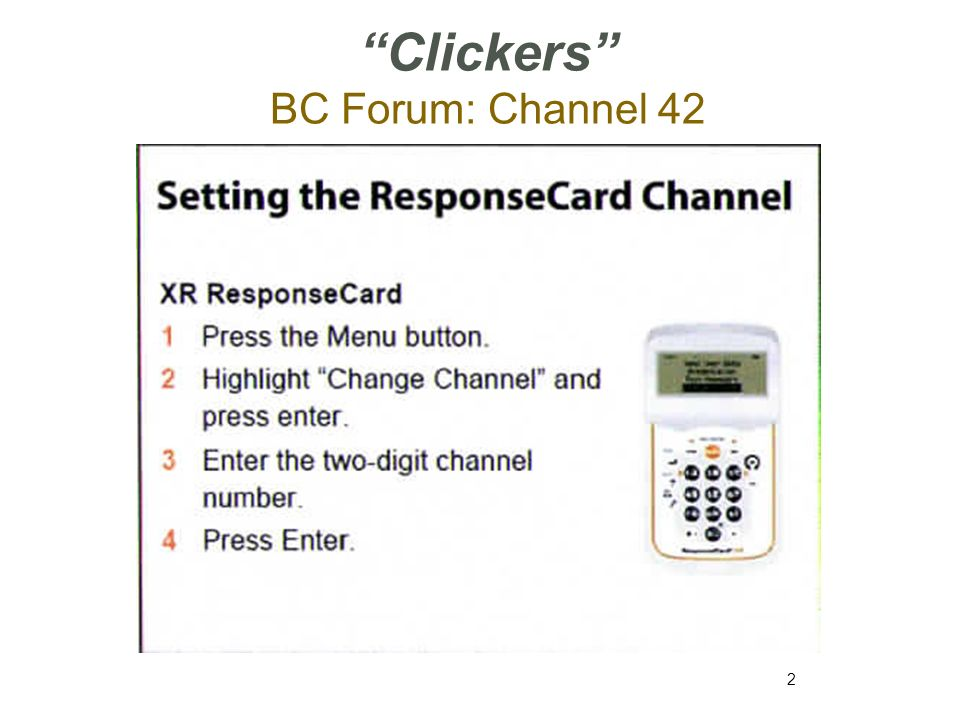 Clickers BC Forum: Channel 42