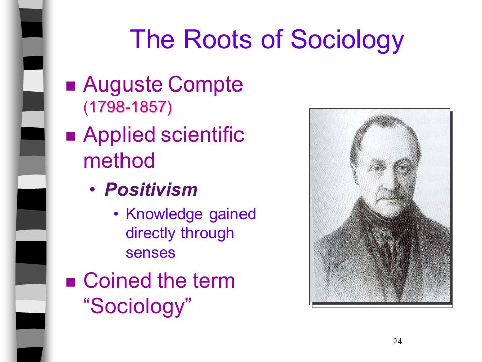 The Roots of Sociology Auguste Compte (1798-1857)