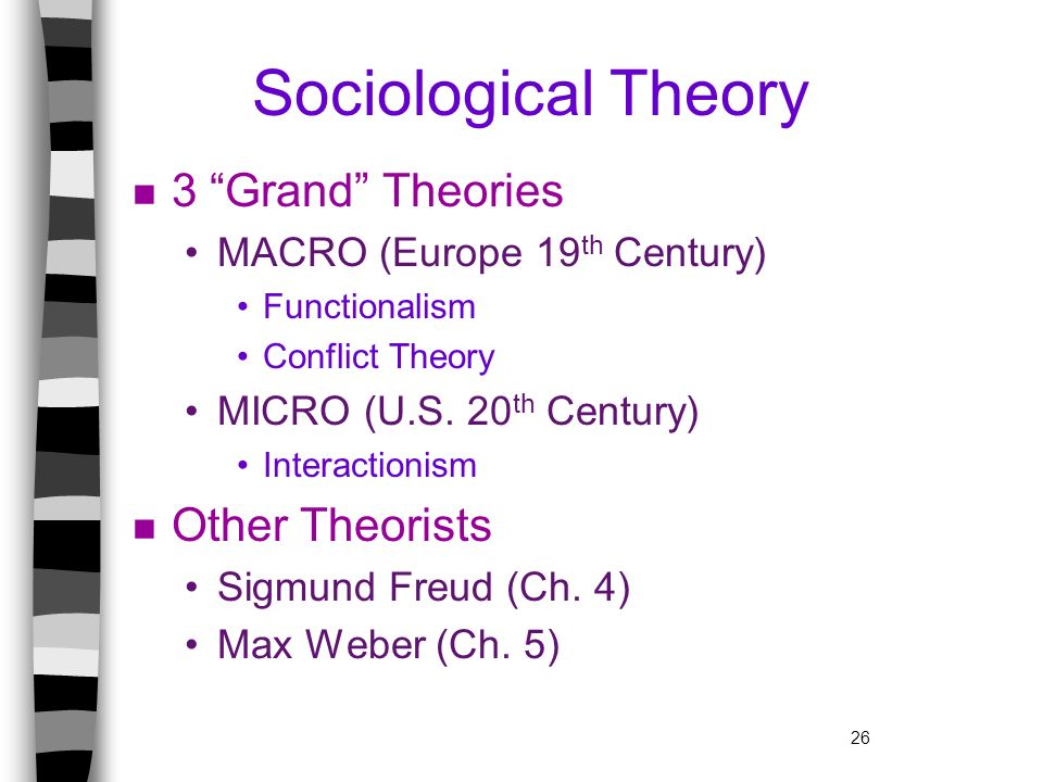 Sociological Theory 3 Grand Theories Other Theorists