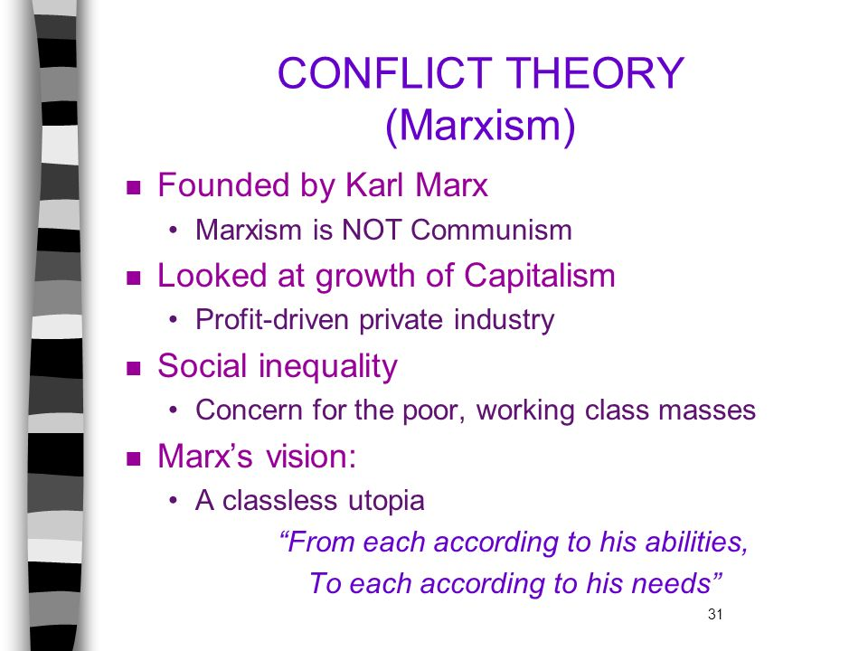 CONFLICT THEORY (Marxism)