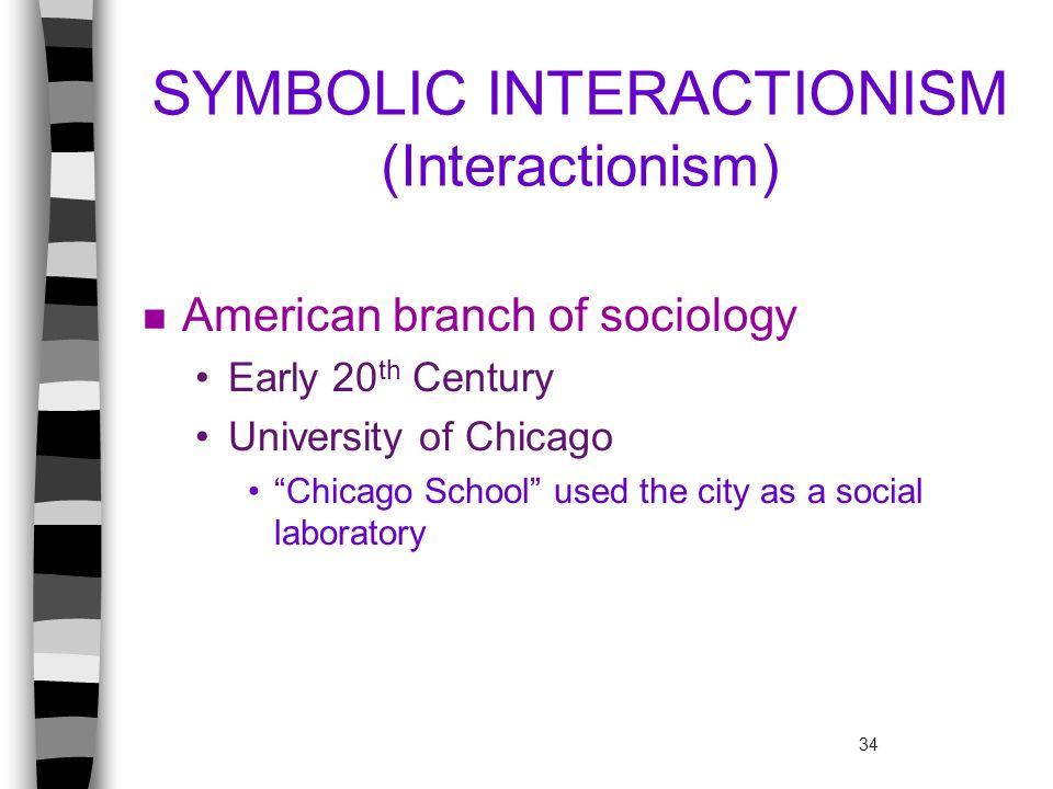 SYMBOLIC INTERACTIONISM (Interactionism)