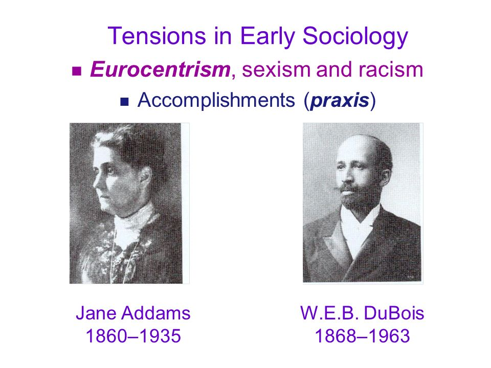 Tensions in Early Sociology