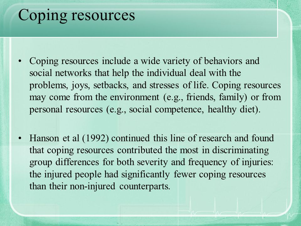 Coping resources