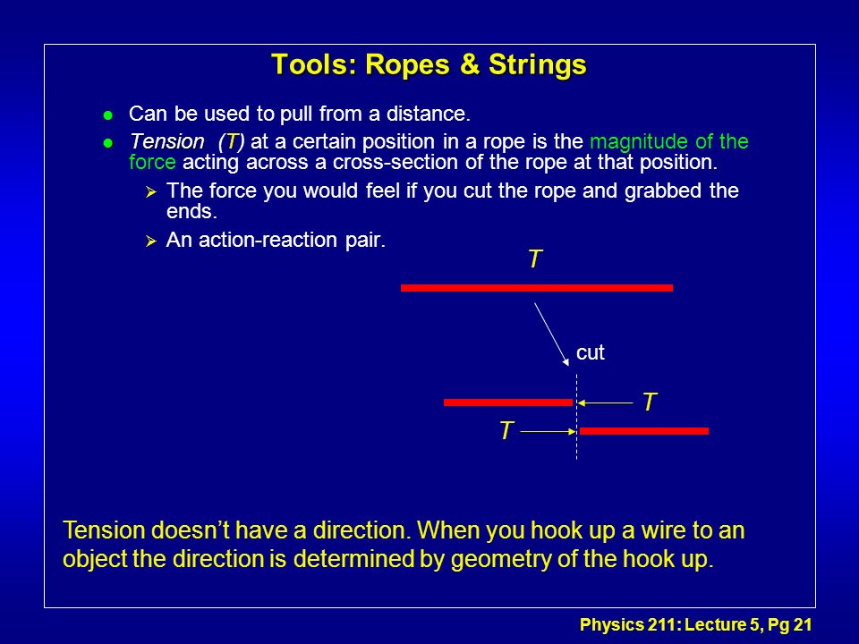 Tools: Ropes & Strings T T T