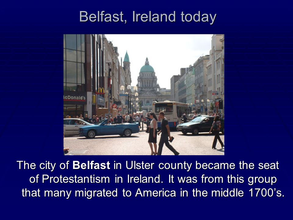 Belfast, Ireland today