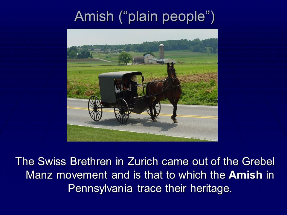 Amish ( plain people )