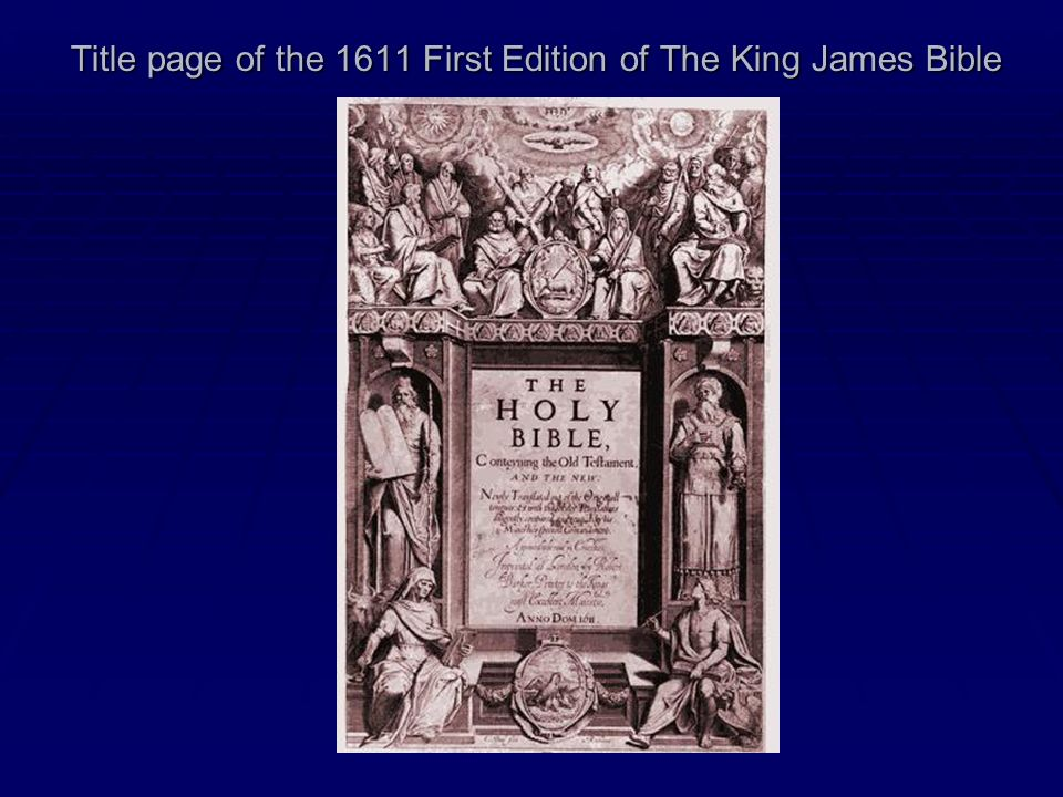 Title page of the 1611 First Edition of The King James Bible