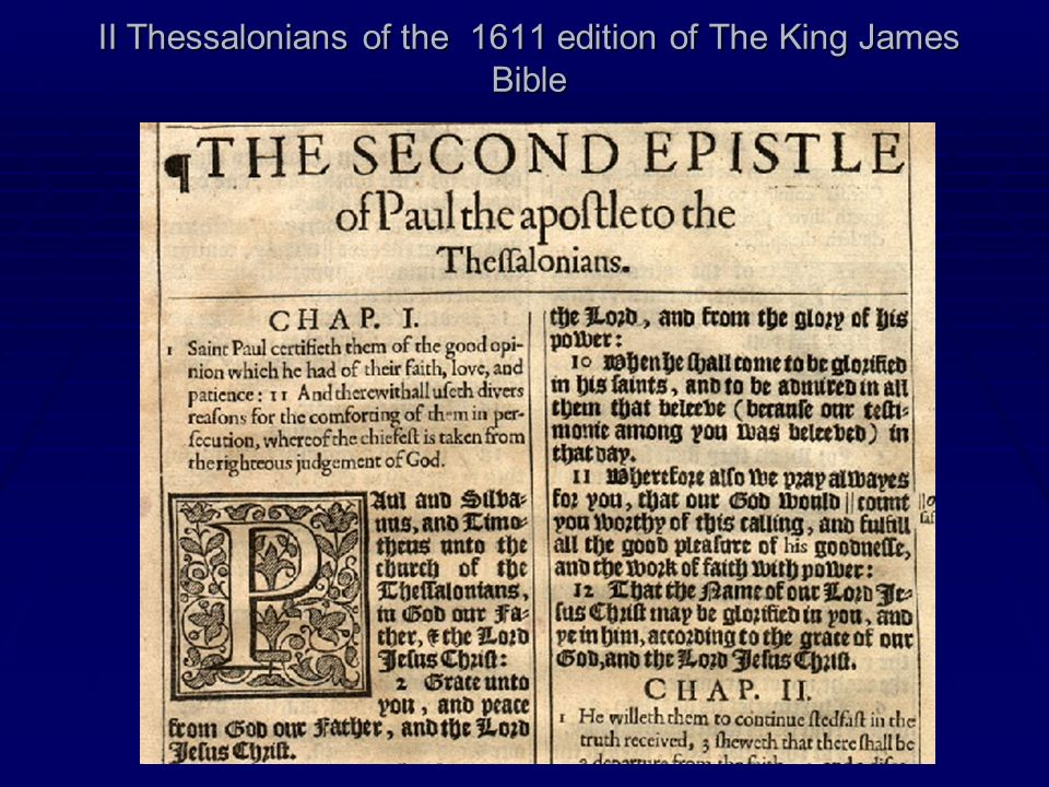 II Thessalonians of the 1611 edition of The King James Bible