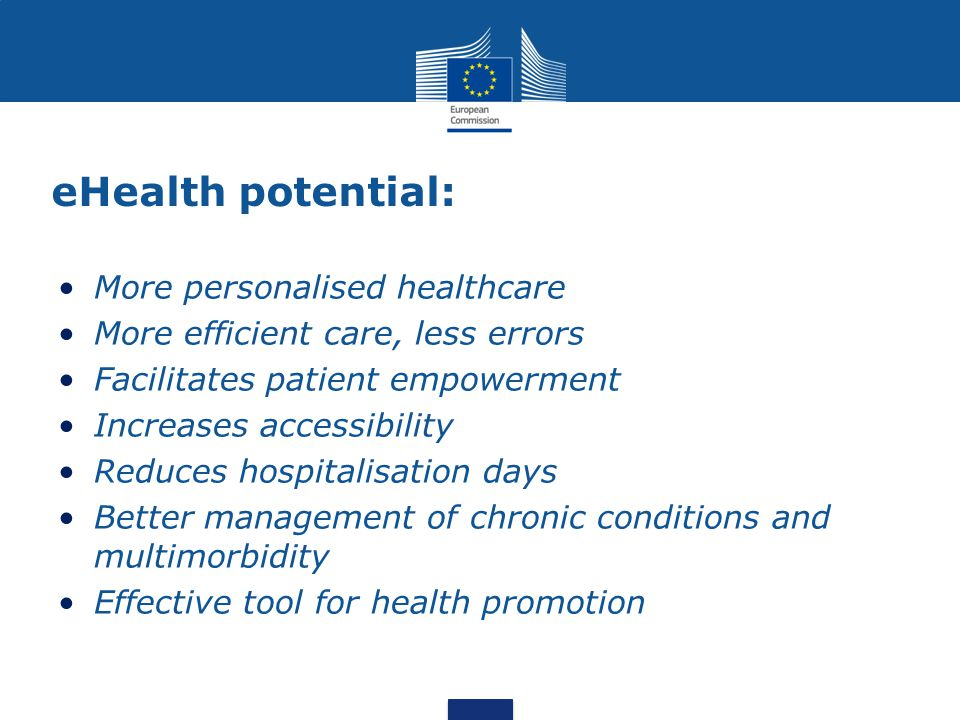 eHealth potential: More personalised healthcare
