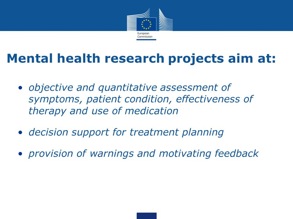 Mental health research projects aim at: