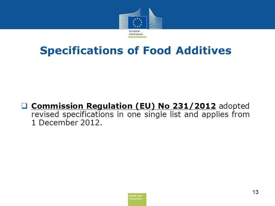 Specifications of Food Additives