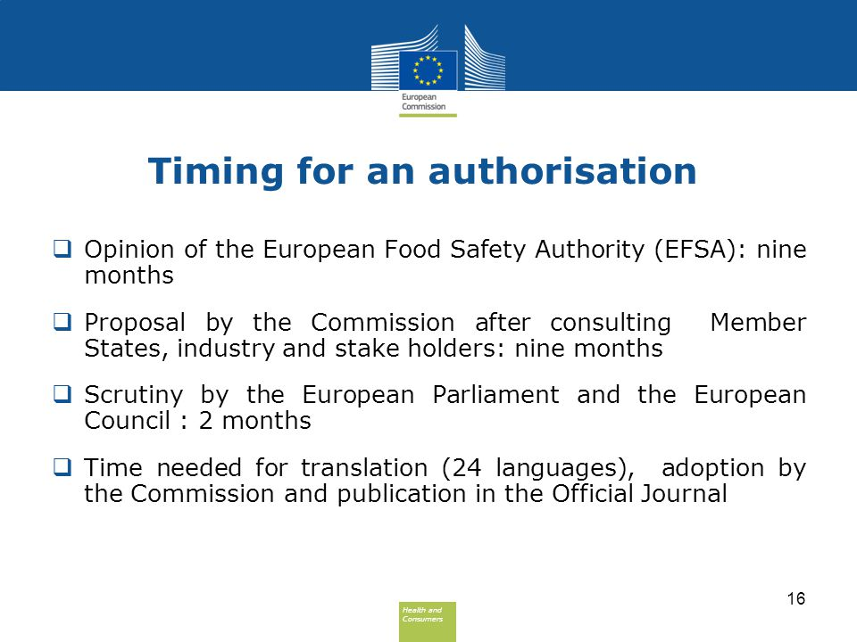 Timing for an authorisation