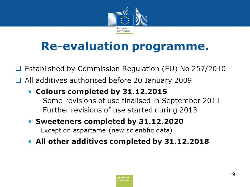 Re-evaluation programme.