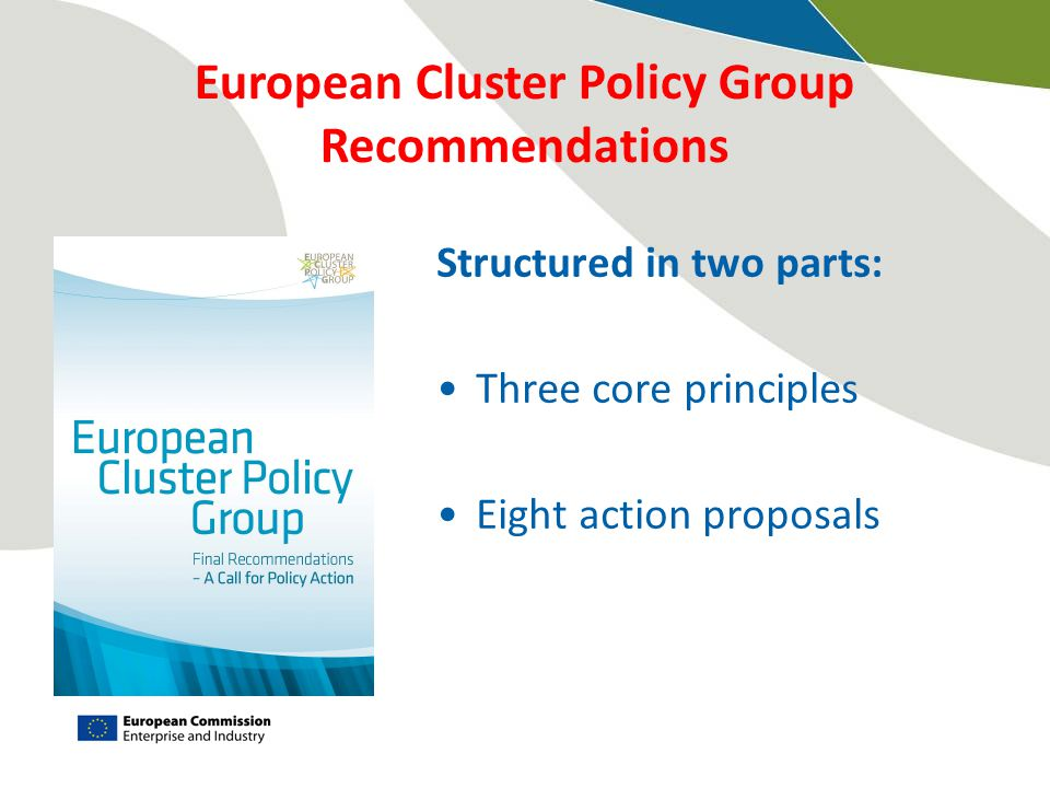 European Cluster Policy Group Recommendations