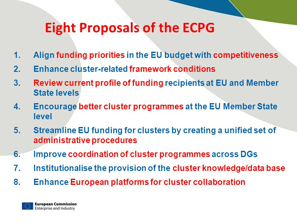Eight Proposals of the ECPG