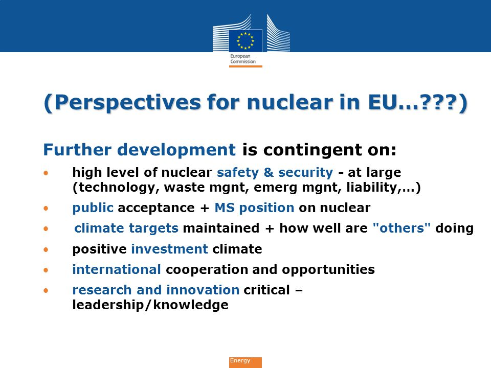 (Perspectives for nuclear in EU… )
