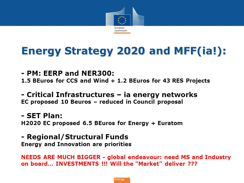 Energy Strategy 2020 and MFF(ia!):