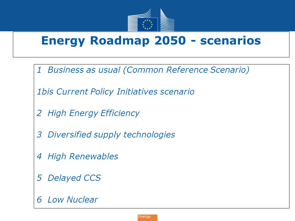 Energy Roadmap 2050 - scenarios