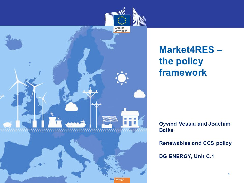 Market4RES –the policy framework