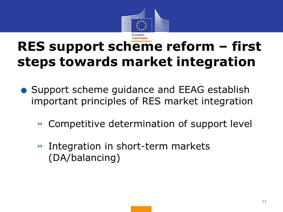 RES support scheme reform – first steps towards market integration