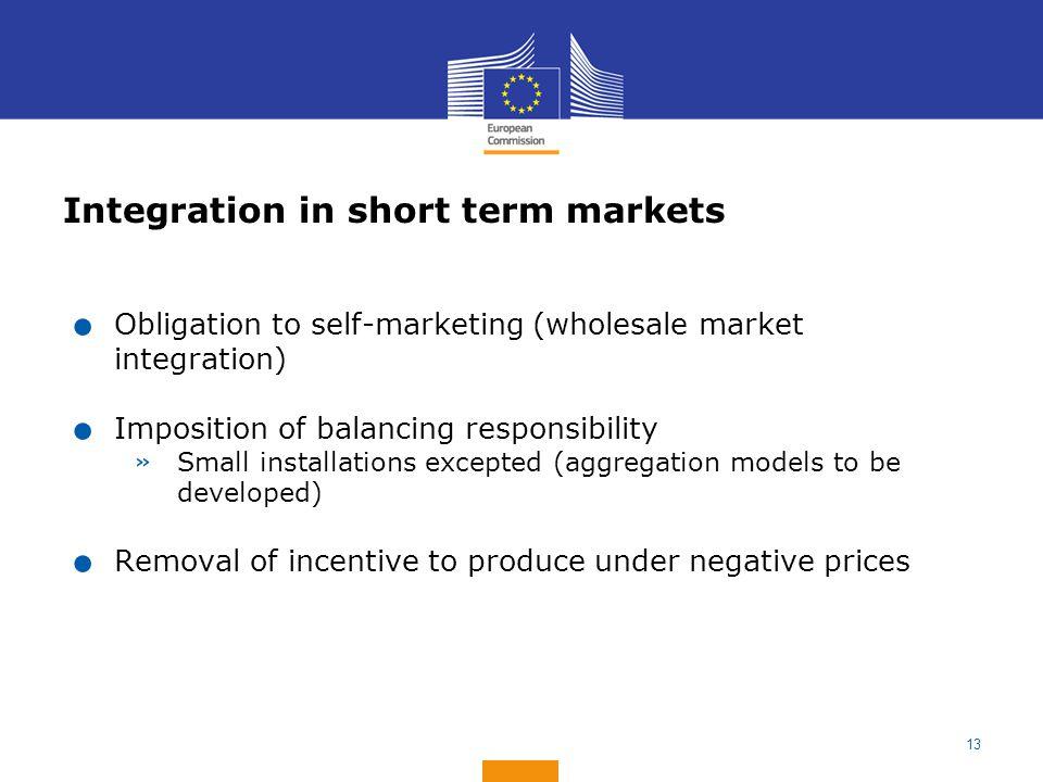Integration in short term markets